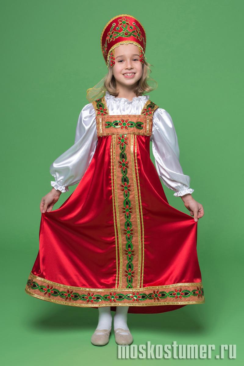 Картинки для детей русский сарафан