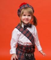 Шотландский синий килт для девочки в прокат
