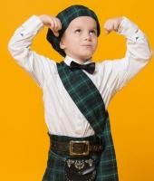 Шотландский зелёный  костюм для мальчика в прокат