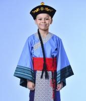 Китайский костюм для мальчика с шляпой китайского мандарина