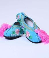 Туфли китайские женские голубые, размер 38 – №2