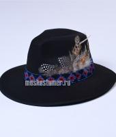 Шляпа цыганская в прокат чёрная