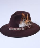 Шляпа цыганская в прокат коричневая