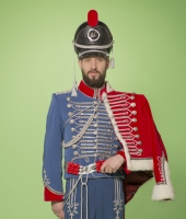 Hussar uniform for rent.