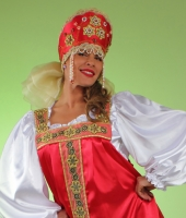 Russian national costumes for rent.