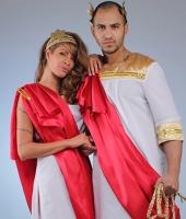 Греческие костюмы. Женский №1 и мужской с длинной тогой.