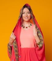 Женский индийский костюм сари № 5