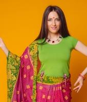 Женский индийский костюм сари № 4