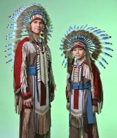 Индейские костюмы для мужчины и мальчика в прокат