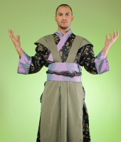 Японский мужской костюм самурая № 1. У нас имеется 2 одинаковых костюма в этой расцветке!