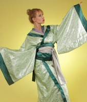 moskostumer.ru зеленое женское японское кимоно в прокат