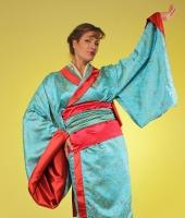 moskostumer.ru лазуревое женское японское кимоно в прокат