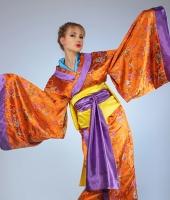 moskostumer.ru оранжевое женское японское кимоно в прокат