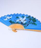 Веер японский синий в прокат