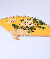 Веер японский желтый в прокат