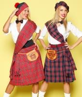 Шотландские килты красный и синий
