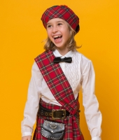 Шотландский национальный костюм для девочки