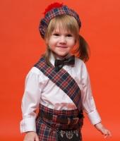 Шотландский национальный костюм для ребенка