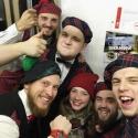 Шотландцы в московским метро