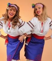 Украинские женские национальные костюмы с синей плахтой