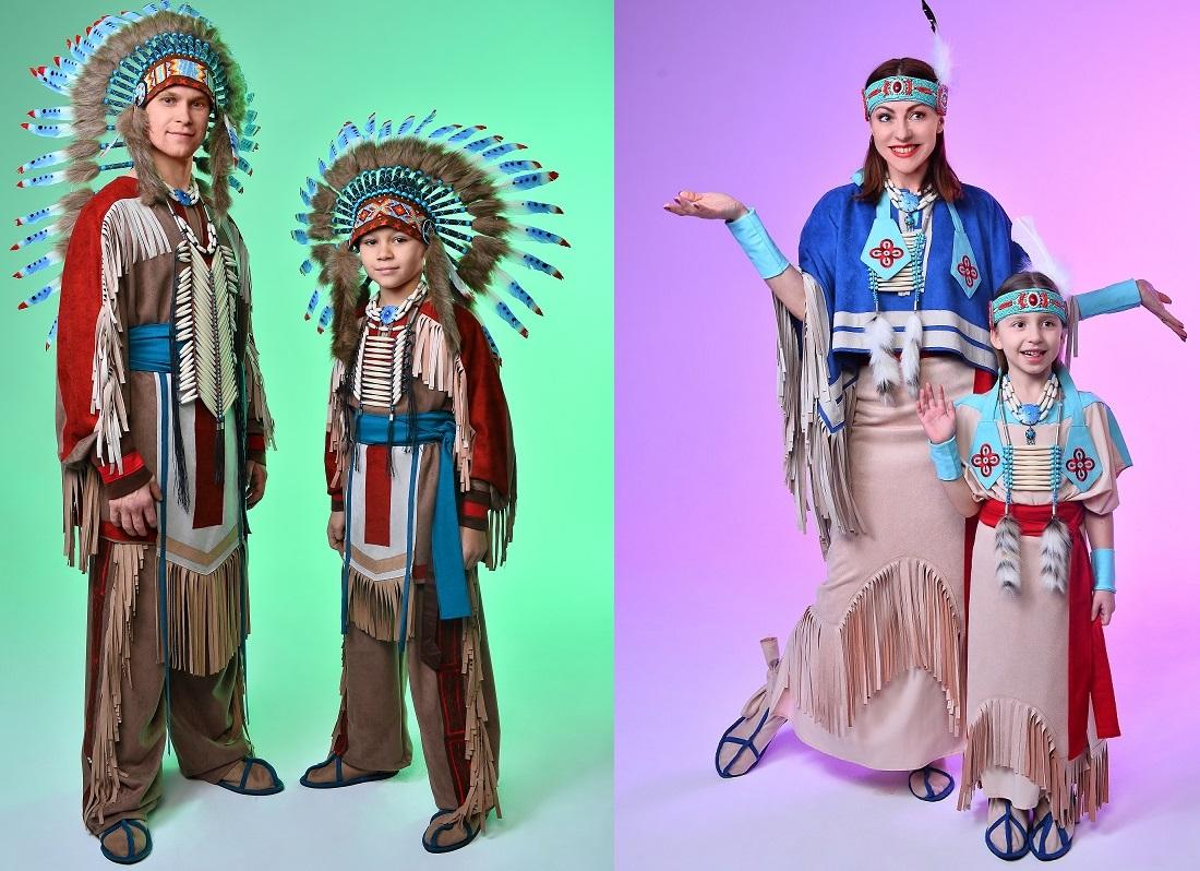 Индейские костюмы для мужчин девушек мальчиков и девочек в прокате МосКостюмер