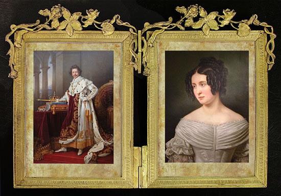 Кронпринц Людвиг и принцесса Тереза.